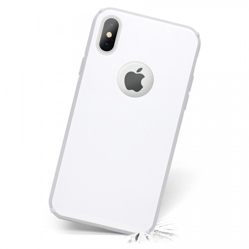 Capa Antichoque Glass Case White para iPhone X